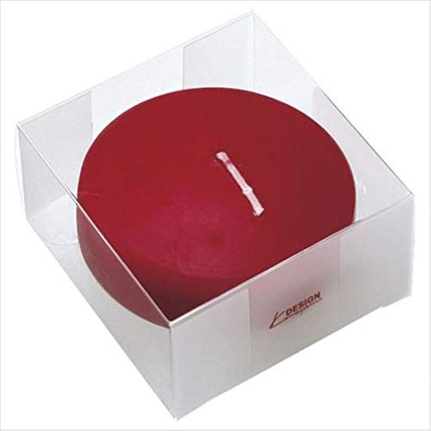辛いリサイクルする仮称カメヤマキャンドル(kameyama candle) プール80 (箱入り) 「 ワインレッド 」 キャンドル 6個セット