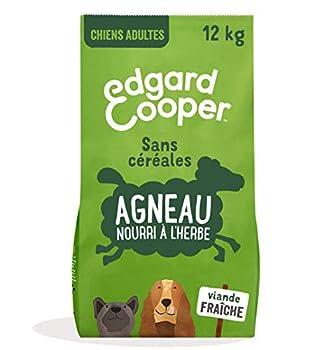 Edgard & Cooper Croquettes Chien Adulte sans Cereales Nourriture Naturelle 12kg Agneau Frais Hypoallergénique, Alimentation Saine savoureuse et équilibrée, Protéines de qualité supérieure