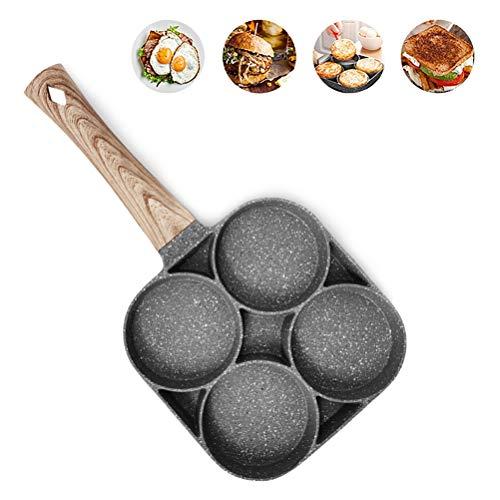 Bsopem - Sartén antiadherente para cocinar huevos de maifanstone con compartimento para...