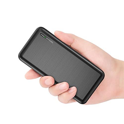 Powerbank 10000mAh, Ultra-Compact magro Caricatore Portatile USB C QC 3.0 18W PD Carica Rapida Power bank con 3 uscite e 2 uscite ingressi per iPhone, Xiaomi, Huawei, Samsung ECC