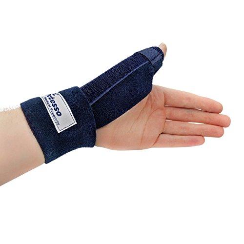 Órtesis Neopreno Para Pulgar - La ferula pulgar Actesso es perfecta para dolor de pulgar, tendinitis, esguinces y distensiones - izquierda o derecha - tamaño universal (Izquierda, Azul)