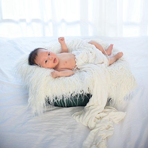 yeahibaby fotos de bebé para bebé los accesorios fotografía de tuercas capazo pieles dulce Edredón fotográfica mate (blanco)