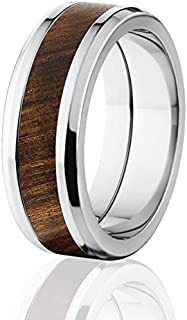 New Tamboti Wood Rings, Exotic Hard Wood Wedding Band w/ Comfort Fit