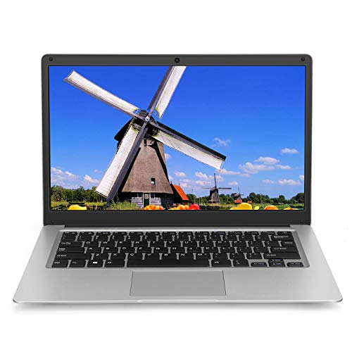 Windows 10 Laptop 14 inch Notebook - YELLYOUTH 8GB RAM 128GB eMMC Intel Quad Core Laptop with Mini HDMI 5G WiFi Bluetooth Computer PC Silver