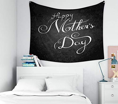 Tapiz para colgar en la pared, decoración de Pascua para el hogar, feliz día de la madre, frase de trama, decoración de caligrafía moderna, póster de pared con tapices de fondo para el dormitorio de l