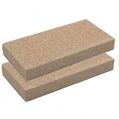 Vermiculit-Platte Vermiculite Schamottstein Schamotte Ersatz, 25x12,5x3 cm 2 Platten
