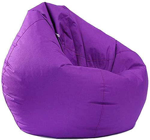 Bean Bag for Adults and Kids Chair Storage, Bean Bag Oxford Chair Cover Teens Adults Lounger Sack Home Waterproof (Purple, One size)