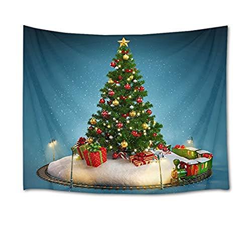 Kerstboom tapijt, wandtapijt, grenen met bollen, decoratie, wandtapijt, kersttapijt, voor slaapkamer, woonkamer, outdoor, decoratie 200x150cm