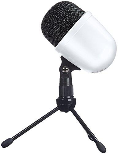 AmazonBasics Mini-condensatormicrofoon, tafelmicrofoon wit