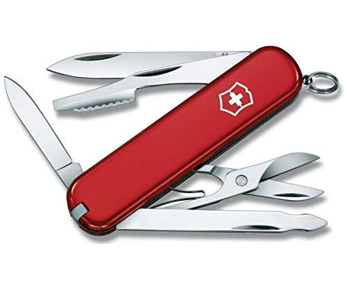 Victorinox Executive Petit Couteau de Poche Suisse, Léger, Multitool, 10 Fonctions, Lime à Ongles, Rouge