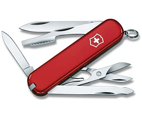 Victorinox Executive Swiss Army Pocket Knife, Small, Multi Tool, 10 Functions, Nail File, Red