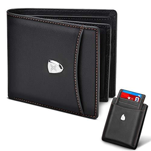 Men Wallet RFID Blocking with 14 Card Slots,Genuine Leather Slim...