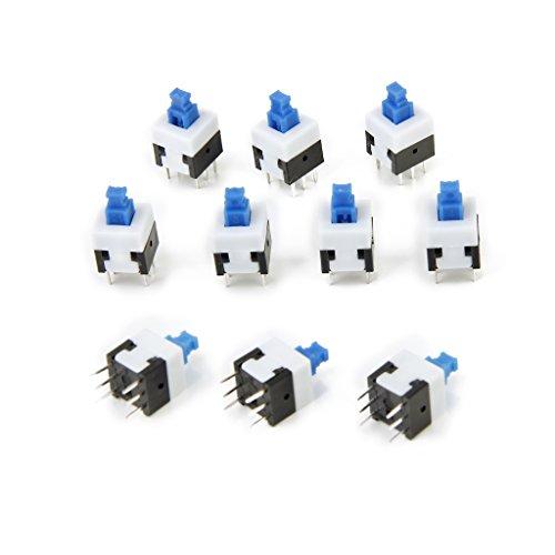 yotijar Interruptor de Bloqueo Automático de 6 Pines, Interruptor de Botón, Control DIY