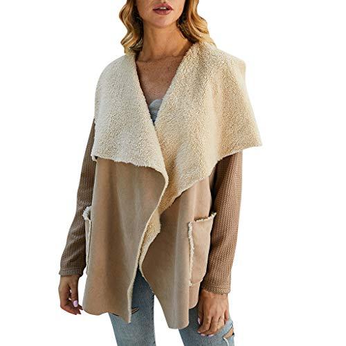 MINIKIMI Dames Winter Elegant Warm gebreide trui Cardigan jas Gevoerd gebreide jas goedkoop outdoorjack lange winterjas Parka Outwear