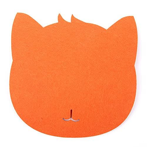 Alfombrilla de ratón 1 pieza de Trackball óptico grueso para ratón, alfombrilla de fieltro, alfombrilla universal para ratón, para ordenador portátil, tableta, PC (color naranja)