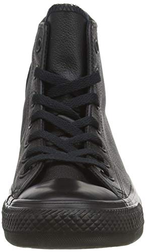 Converse Chuck Taylor All Star Leather High Top Sneaker, Black Mono, 10 M US