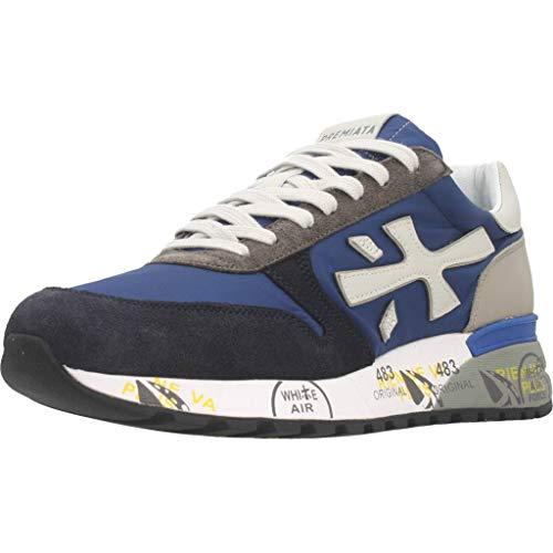 Sneakers Hombres PREMIATA Mick 4567 Gamuza Tejido Azul
