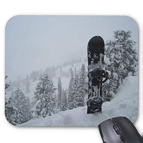 Drempad Gaming Mauspads Custom, Snowboard in Snow Mouse Pad 11.8