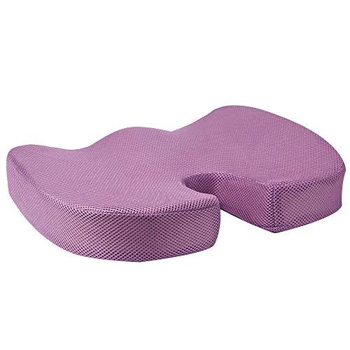 Cojín de algodón de espuma viscoelástica para las cuatro estaciones, para aliviar el dolor de cadera o aliviar la presión del coxis en una silla de ruedas.