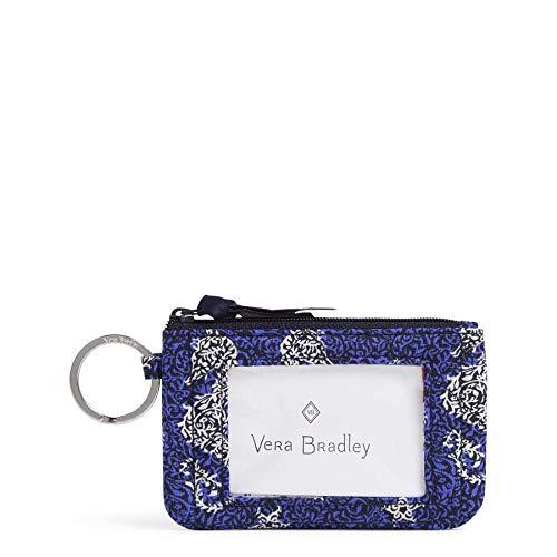 Vera Bradley Women's Signature Cotton Zip ID Case Wallet, Seahorse of Course w/Window, One Size