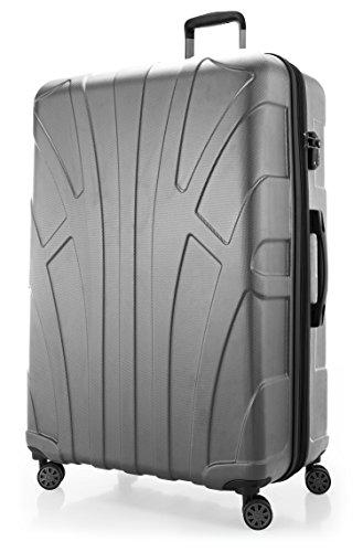 SUITLINE - Maleta rígida giratoria, Trolley, 4 rudeas, ABS extremista Ligero, TSA, 85 cm, 160 litros, Plateado