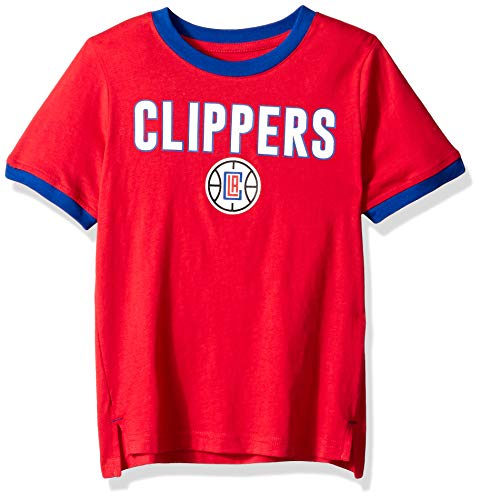 Outerstuff NBA NBA Kids & Youth Boys Los Angeles Clippers Key Short Sleeve Fashion Tee, Red, Kids Medium(5-6)