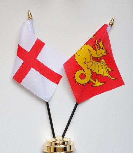 1000 Flags Wessex et Angleterre l'amitié Drapeau de Table écran 25 cm (25,4 cm)