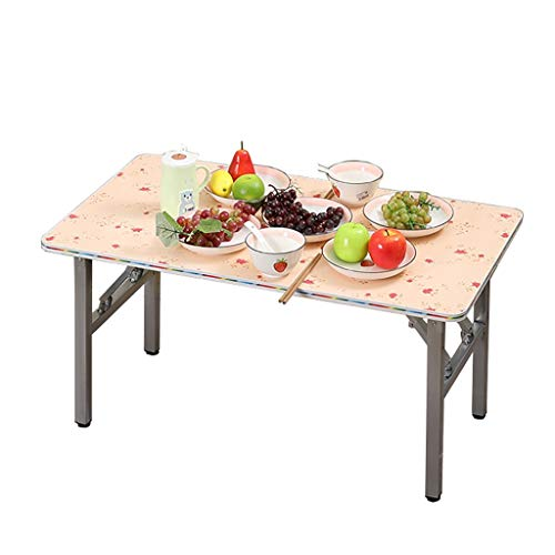 Mesa plegable, mesa de comedor cuadrada, mesa de centro simple, mesa de estudio, mesa de picnic portátil, para el hogar, dormitorio, al aire libre (tamaño: 95 x 53 x 60 cm)