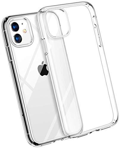 COVERbasics Cover iPhone 11 Pro Max (AIRGEL) Custodia Trasparente in Silicone Gel Gomma TPU Sottile Ultra Thin Slim con Bordo Protezione Proteggi Fotocamera compatibile con Apple iPhone 11 Pro Max 6.5