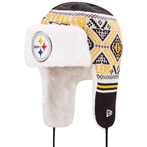 New Era Chapeau d'hiver Festive Trapper Pittsburgh Steelers