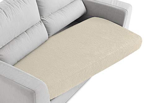 Textilhome - Funda de Cojín del Asiento para Sofá - Desde 130 a 200 cm. Color Beig (2-3 plazas)