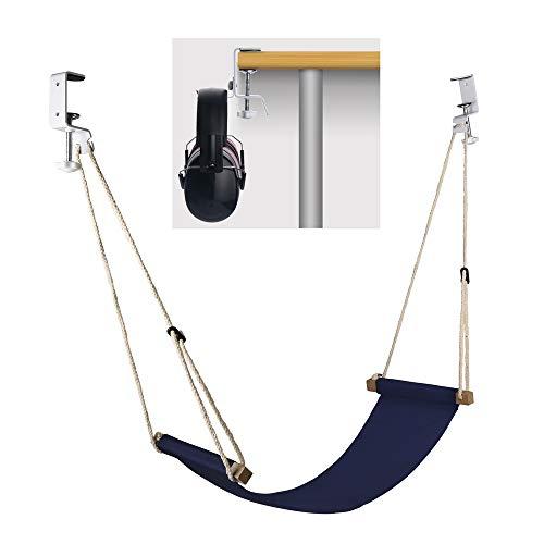 Yagote Foot Hammock Under Desk Footrest with Headphones Holder Upgraded Adjustable Feet Rest Prevent...