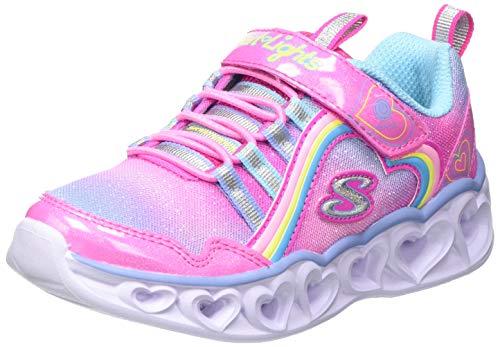 Skechers Heart Lights Rainbow Lux, Zapatillas Niñas, Pkmt, 35 EU