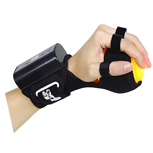 JM-D Anti Spastik Ball Finger Grip Ball Handgelenkorthese und Fingerorthese, Splint Hand Hemiplegie Rehabilitation Training Hand Einstellbare Finger Handgelenk Orthotics Trainingsgerät,D