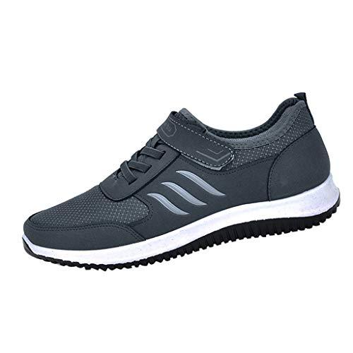 DAIFINEY Herren Schnürschuhe Turnschuhe Verschleißfest Straßenlaufschuhe Sportschuhe Laufschuhe Joggingschuhe Walkingschuhe Fitness Schuhe(1-Grau/Grey,38) thumbnail