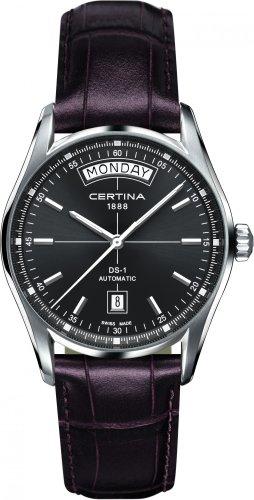 Certina Herren-Armbanduhr XL Analog Automatik Leder C006.430.16.081.00