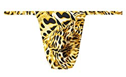 Men's thongs with leopard pattern.