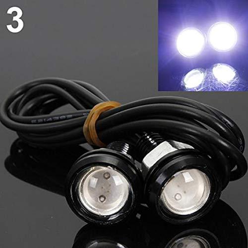 Mingsa Store Eagle Eye Light Other Light LED Light 2Pcs 10W LED Eagle Eye 12V Car Auto DRL Daytime Running Tail Backup Light Lamp - White