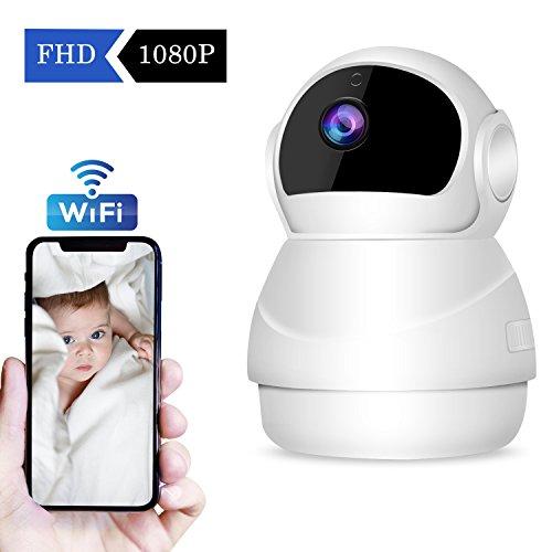 【2019 Nuova Versione】CHORTAU Telecamera di Sicurezza Senza Filo/WiFi con funzioni Tilt/Zoom...