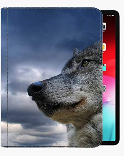 For iPad 2019 10.2 inch Case Cover,Gray Wolf Animal Wolf Case Slim Shell Cover For iPad iPad 2019