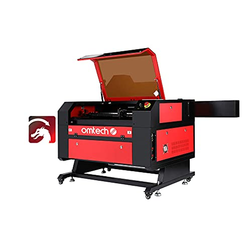 """OMTech Upgraded 100W CO2 Laser Engraver Cutter 20"""" x 28"""" Laser Engraving Machine with Ruida DSP LCD Display RDWorks V8, USB Port, Air-Assist, LightBurn Software for Windows Mac OS Linux(MF2028-100)"""