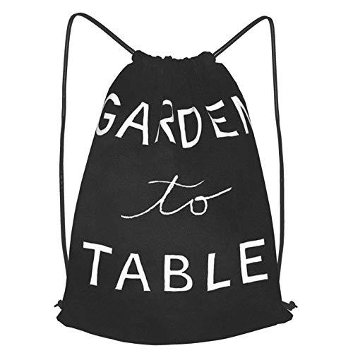 Mochila de jardín a mesa, con cordón, mochila de viaje, ligera, para hombres y mujeres