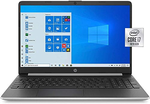 "2020 HP 15.6"" Laptop 10th Generation Intel Core i7-1065G7 Processor, 16GB RAM, 1TB SSD, Wi-Fi, Bluetooth/Webcam/Microphone, Windows 10, Brown Box One Year Support"