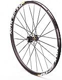 YSHUAI Rueda delantera para bicicleta de carretera 700 C, llantas de doble pared, eje de aleación, freno de disco 24 H 745 g, para neumáticos 23 – 38 c, color negro