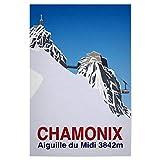 artboxONE Poster 30x20 cm Natur Chamonix hochwertiger
