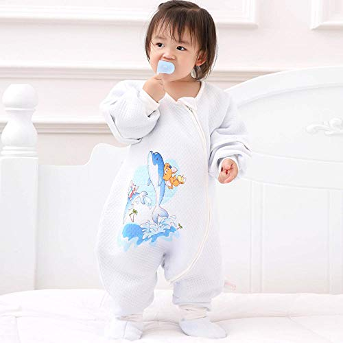 CAIYIXIONG Unisex Baby Sleeping Bag 6-18 Months Autumn New Quilted Split Leg Detachable Baby Swaddle Baby Blanket Children's Sleeping Bag