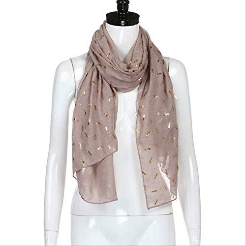 FOR TMT Schal Schal Frauen Gold Neuankömmling Dekofolie Libellendruck Schal Pashmina Stola Schal Nm100 Pink Geschenk
