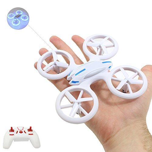 Smart Planet® hochwertige kleine Mini Drohne / Drone mit auffälliger LED Beleuchtung Stabiler Flug – Looping auf Knopfdruck für drinnen und draußen