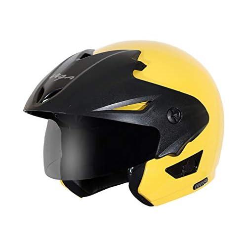 Vega Cruiser CR-W/P-Y-M Open Face Helmet (Yellow, M)