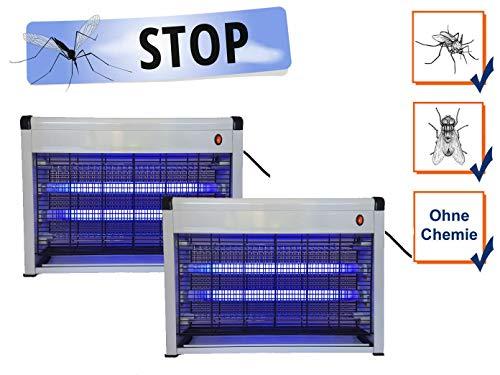 G-Brand - Práctico Repelente de Insectos GGG con luz UV, Juego de 2 trampas para Mosquitos para el Interior